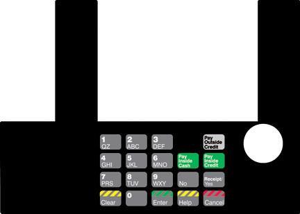 GA-T50038-04 Infoscreen Keypad Overlay