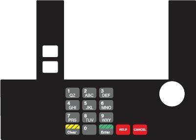 GA-T50038-05C Infoscreen Keypad Overlay