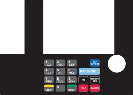 GA-T50038-05M Infoscreen Keypad Overlay