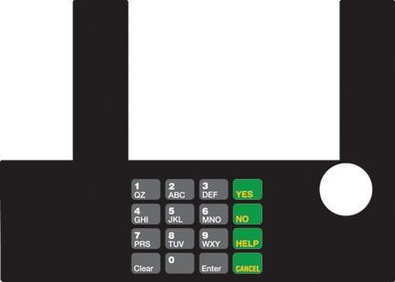 GA-T50038-07 Infoscreen Keypad Overlay