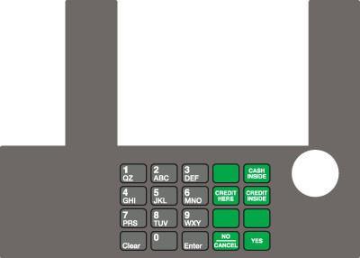GA-T50038-0M1 Infoscreen Keypad Overlay