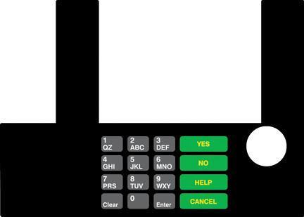 GA-T50038-10 Infoscreen Keypad Overlay