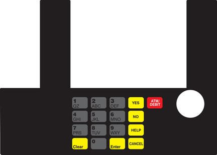 GA-T50038-1010 Infoscreen Keypad Overlay