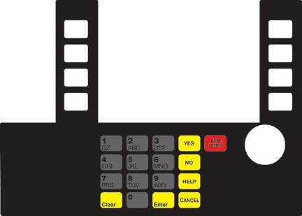 GA-T50038-1010CK Infoscreen Keypad Overlay
