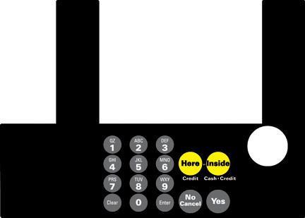 GA-T50038-1017 Infoscreen Keypad Overlay