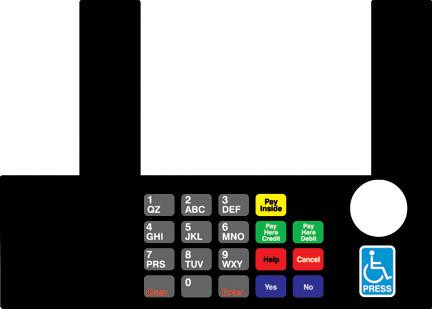 GA-T50038-58A Infoscreen Keypad Overlay