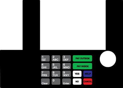 GA-T50038-59 Infoscreen Keypad Overlay