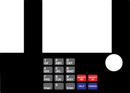 GA-T50038-70 Infoscreen Keypad Overlay