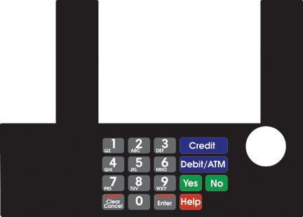 GA-T50038-73 Infoscreen Keypad Overlay