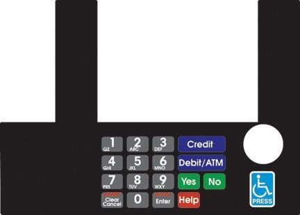 GA-T50038-73A Infoscreen Keypad Overlay