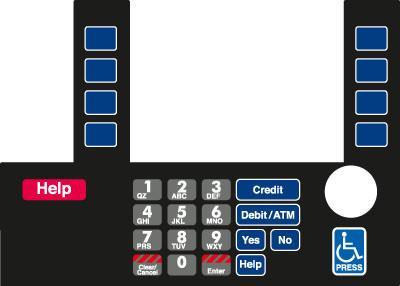 GA-T50038-73B Infoscreen Keypad Overlay