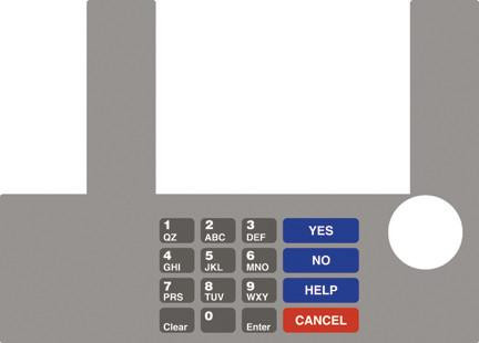 GA-T50038-78 Infoscreen Keypad Overlay