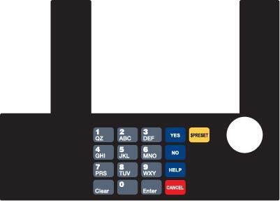 GA-T50038-79 Infoscreen Keypad Overlay