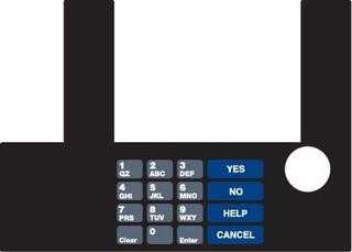 GA-T50038-85 Infoscreen Keypad Overlay