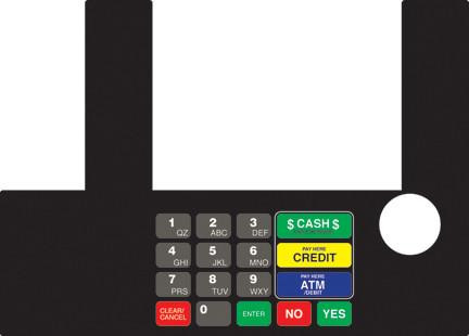 GA-T50038-91 Infoscreen Keypad Overlay
