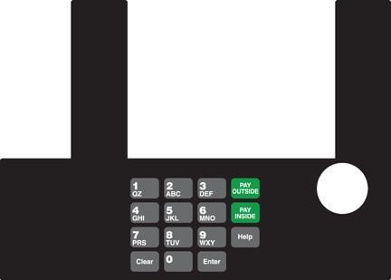 GA-T50038-94 Infoscreen Keypad Overlay