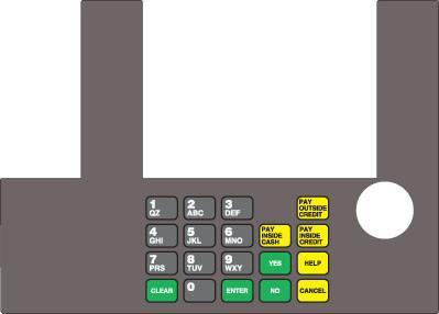 GA-T50038-BPJF Infoscreen Keypad Overlay