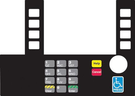 GA-T50038-FCE Infoscreen Keypad Overlay