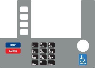 GA-T50038-P66S Infoscreen Keypad Overlay