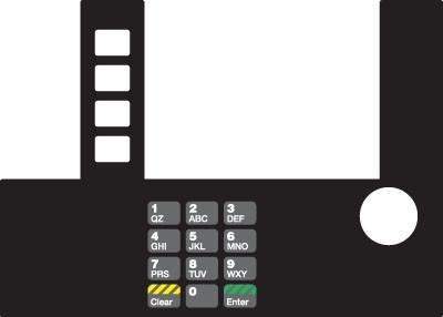 GA-T50038-SX Infoscreen Keypad Overlay