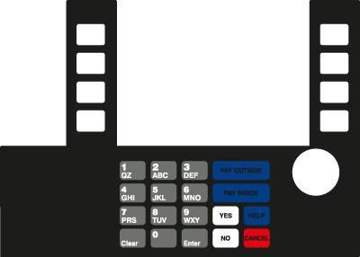 GA-T50038-X11 Infoscreen Keypad Overlay