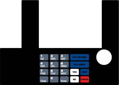 GA-T50038-X11D Infoscreen Keypad Overlay