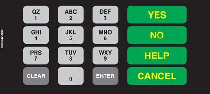 GA-886542-007 Vista Keypad Overlay