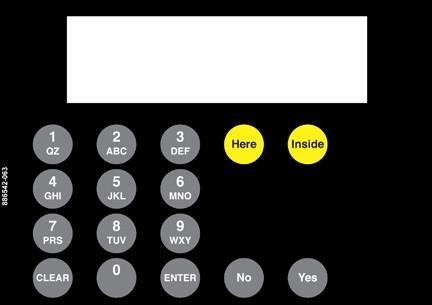 GA-886542-063 Vista Keypad Overlay