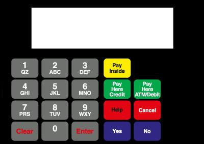 GA-886542-091G Vista Keypad Overlay