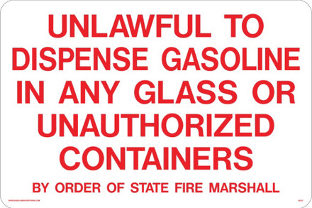 AS-07 Sign-Unlawful to Dispense