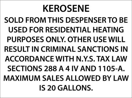 CVD21-001 - KEROSENE...