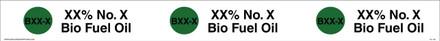 "TC-136 ""XX% No. X Bio Fuel Oil""  API Plastic Tank Collar"
