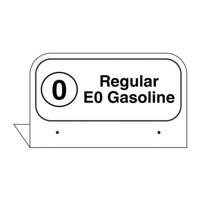 """FPI-03 Fill Pipe ID Tag """"Regular E0 Gasoline"""""""