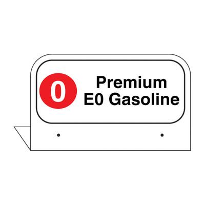 """FPI-04 Fill Pipe ID Tag """"Premium E0 Gasoline"""""""