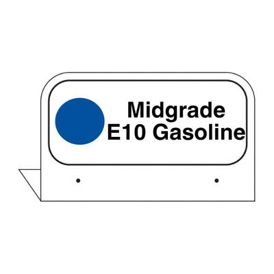 """FPI-02E Fill Pipe ID Tag """"Midgrade E10 Gasoline"""""""
