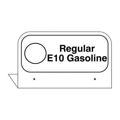 """FPI-03E Fill Pipe ID Tag """"Regular E10 Gasoline"""""""