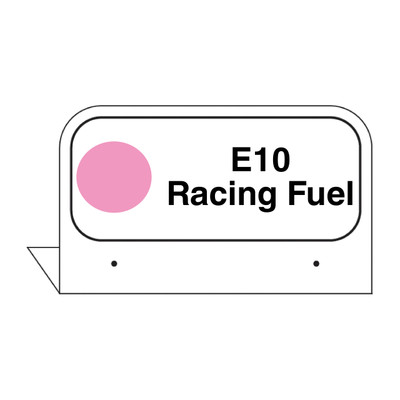 """FPI-130 Fill Pipe ID Tag """"E10 Racing Fuel"""""""