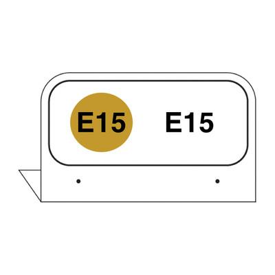 """FPI-36 Fill Pipe ID Tag """"E15"""""""