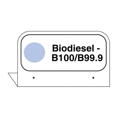 """FPI-132 Fill Pipe ID Tag """"Biodiesel - B100/B99.99"""""""