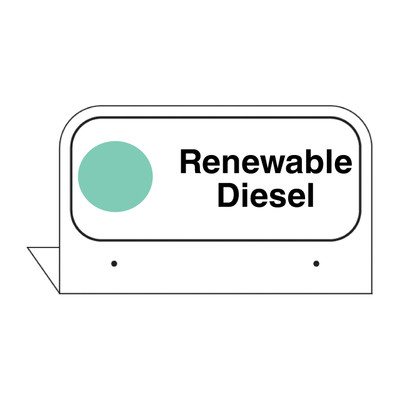 "FPI-133 Fill Pipe ID Tag ""Renewable Diesel"""