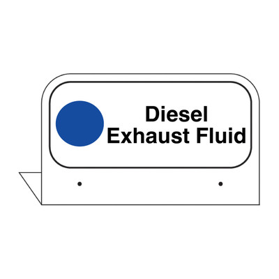 """FPI-134 Fill Pipe ID Tag """"Diesel Exhaust Fluid"""""""