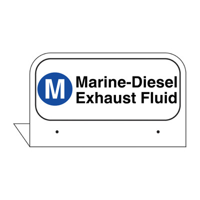 "FPI-135 Fill Pipe ID Tag ""Marine - Diesel Exhaust Fluid"""