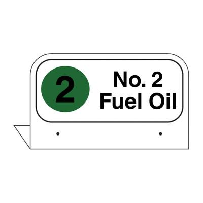 """FPI-15 Fill Pipe ID Tag """"No. 2 Fuel Oil"""""""