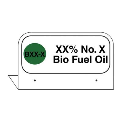 "FPI-136 Fill Pipe ID Tag ""XX% No. X Bio Fuel Oil"""