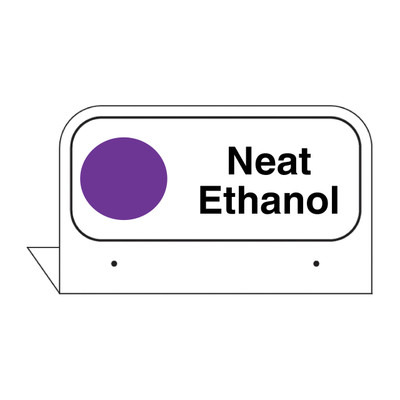"""FPI-137 Fill Pipe ID Tag """"Neat Ethanol"""""""