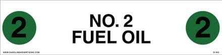 D-382 API COLOR CODED DECAL - NO. 2 FUEL OIL