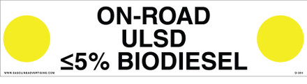 D-384 API COLOR CODED DECAL - ON-ROAD ULSD ≤5% BIODIESEL