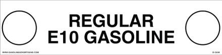 D-355E API COLOR CODED DECAL - REGULAR E10 GASOLINE