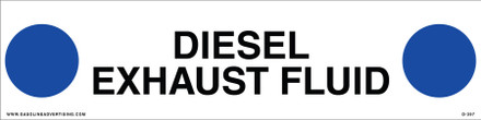 D-397 API COLOR CODED DECAL - DIESEL EXHAUST FLUID