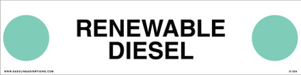 D-396 API COLOR CODED DECAL - RENEWABLE DIESEL